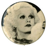 JEAN HARLOW MOVIE SCENE 1930s PORTRAIT ON PHOTO BUTTON FROM 1960s SET.