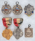 CANOE RACE MEDALS 1916-1920 WITH FIVE IN STERLING.