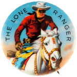 """THE LONE RANGER"" BEAUTIFUL COLOR BUTTON ISSUED FOR 1959 U.S.GOVERNMENT BOND SALES."