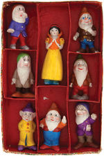 """SNOW WHITE AND THE SEVEN DWARFS"" BOXED BISQUE SET (SIZE VARIETY)."