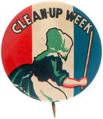 "OLD DUTCH CLEANSER ""CLEAN-UP WEEK"" BUTTON."