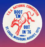 YOUNG DEMS 1975 CONVENTION BUTTON.