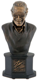JACK KIRBY & STAN LEE BRONZE EDITION BOWEN TRIBUTE MINI-BUST BOXED PAIR.
