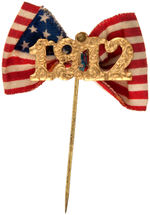 """1912"" NEW YEAR'S BRASS STICK PIN WITH FABRIC FLAG ACCENT."