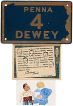 GROUP OF 11 THOMAS DEWEY CAMPAIGN ITEMS.