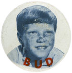 CPB TELEVISION #1072 FLIPPER BUD RICKS LITHO BUTTON.