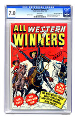 ALL WESTERN WINNERS #2 WINTER 1948 CGC 7.0 WHITE PAGES MILE HIGH COPY.