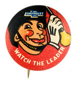 """CHEVROLET WATCH THE LEADER"" BUTTON."
