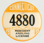 """CONNECTICUT 1935 RESIDENT ANGLING LICENSE."""