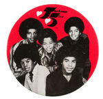 "SCARCE ""JACKSON FIVE"" LARGE AND IMPRESSIVE LITHO BUTTON."