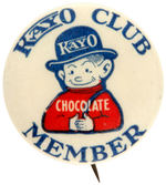 CPB COMIC CHARACTER KAYO BUTTON ADVERTISING NAMESAKE DRINK PRODUCT #218.