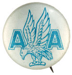AMERICAN AIRLINES VERY EARLY LOGO BUTTON.