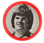 PETE ROSE AS 1980s PHILLIES PLAYER BUTTON.