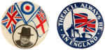 CPB MILITARY WORLD WAR II #317 AND 318 BRITISH HOMEFRONT BUTTONS.