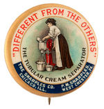 """SHARPLES SEPARATOR CO."" CLASSIC MULTICOLOR ADVERTISING BUTTON."