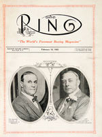 """THE RING"" NEAR COMPLETE SET OF THE FIRST 564 ISSUES FROM EDITOR NAT FLEISCHER ARCHIVE COLLECTION."