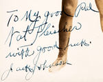 """TO MY GOOD PAL NAT FLEISCHER WITH GOOD LUCK JACK JOHNSON"" AUTOGRAPHED VINTAGE PHOTO."