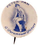 """PETER PAN A PARAMOUNT PICTURE"" BUTTON."