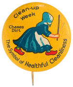 OLD DUTCH CLEANSER COLORFUL CLASSIC BUTTON.