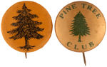 CPB TREES #328 AND #330 PINE TREE BUTTONS.