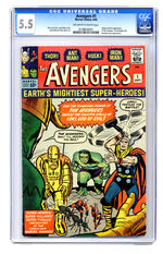 AVENGERS #1 SEPTEMBER 1963 CGC 5.5 OFF-WHITE TO WHITE PAGES.