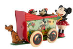 """MICKEY MOUSE PRAM"" BOXED WIND-UP TOY."