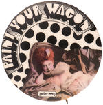 "PETER MAX DESIGNED BUTTON FOR MOVIE ""PAINT YOUR WAGON""."