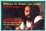 """MILLIONS FOR MUMIA ABU-JAMAL"" FULL COLOR DEATH ROW PRISONER CAUSE BUTTON"