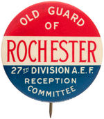 "WWI BIG REUNION BUTTON FROM ""27TH DIVISION A.E.F."""