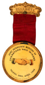 """OPERATORS AND MINERS"" DELEGATE BADGE"