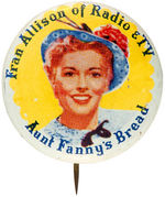 TV PERSONALITY BREAD AD BUTTON PLATE EXAMPLE FROM HAKE BOOK.