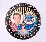 "BUSH ""WELCOME TO CANTON, OHIO/JULY 31ST 2004"" BUTTON."