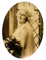 BRIDE REAL PHOTO 1930s MIRROR