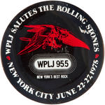 ROLLING STONES 1975 NYC CONCERT BUTTON.