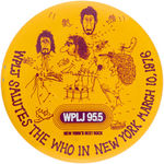 THE WHO 1976 NYC CONCERT BUTTON.
