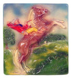 """MANY HAPPY TRAILS ROY ROGERS & TRIGGER"" PLASTER PLAQUE."