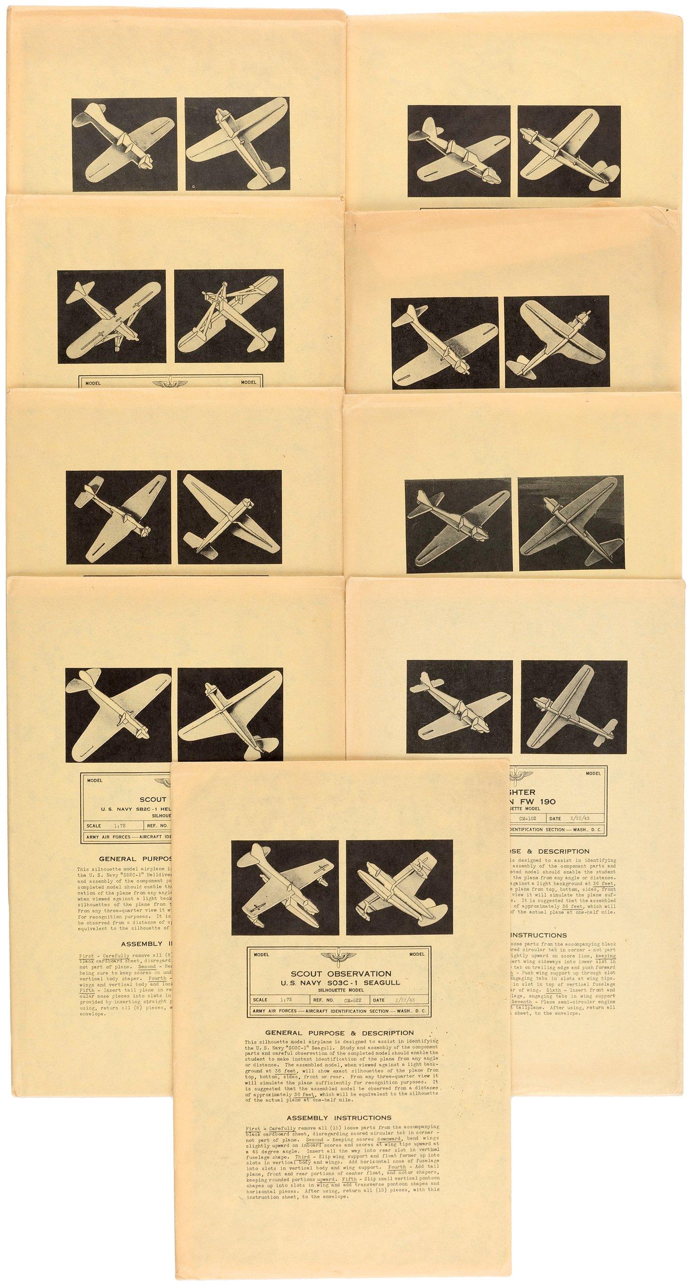 Hake S World War Ii Allied Axis Aircraft Identication Model Kit Lot