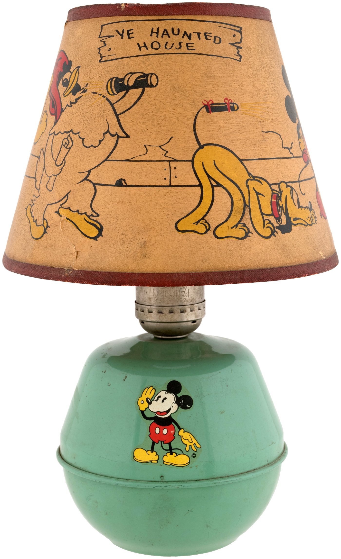 Hakes mickey mouse lamp with rare shade hakes americana collectibles aloadofball Images