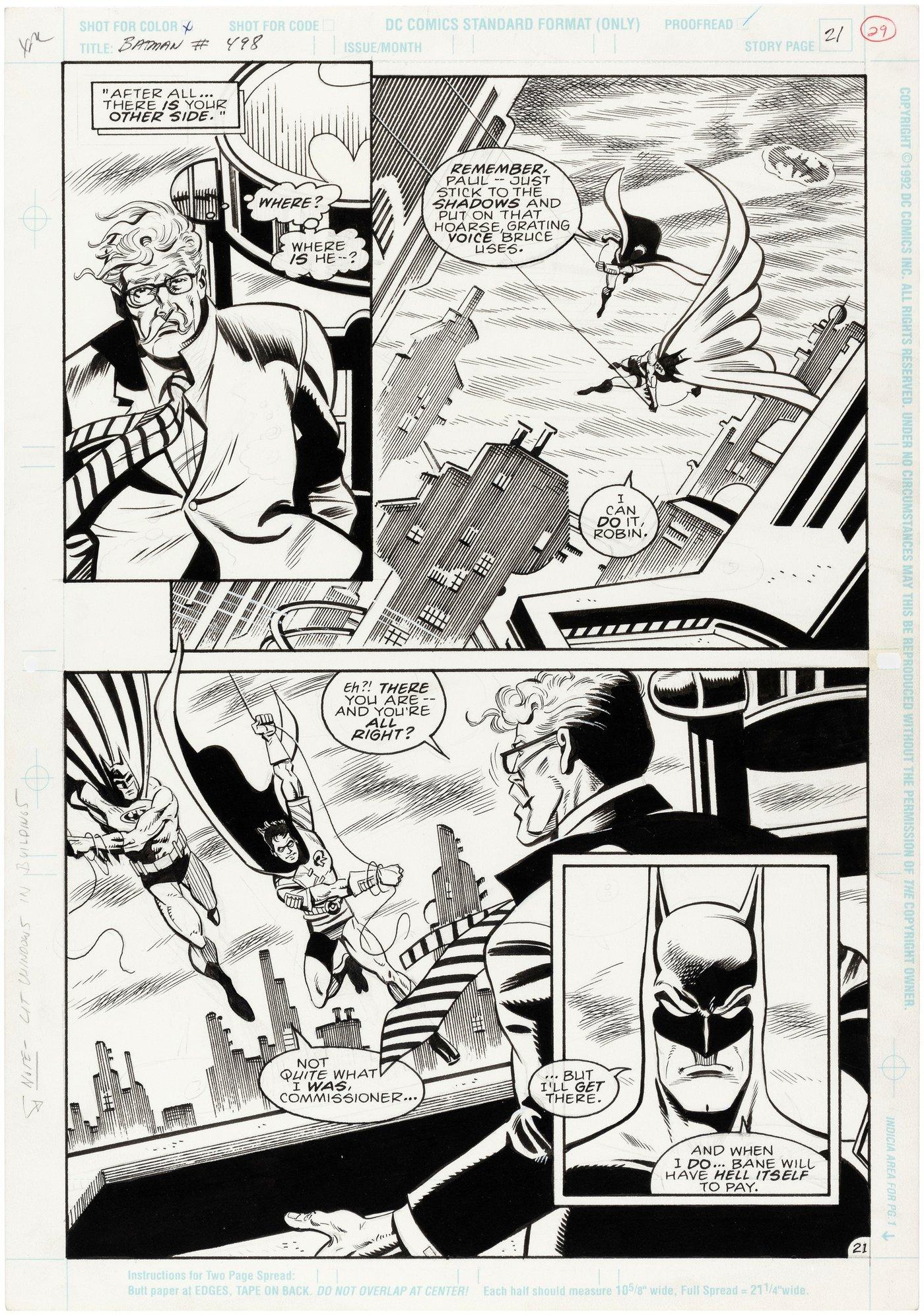 DC Comics kurz Batman Rooftop Comic Box