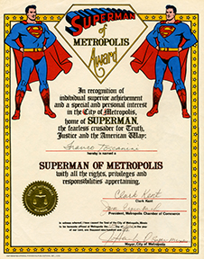 Superman of Metropolis Award