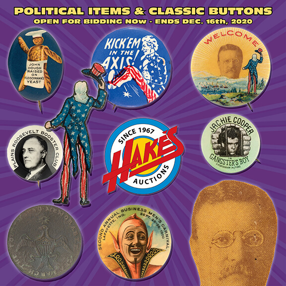 Political And Classic Button Auction